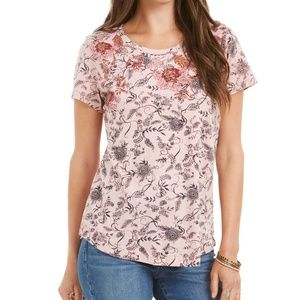 Style & Co Printed Short-Sleeve Cotton T-Shirt